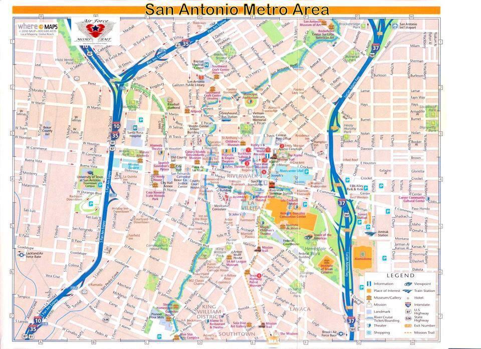Metro San Antonio Map