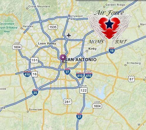 San Antonio 1604 Loop Map